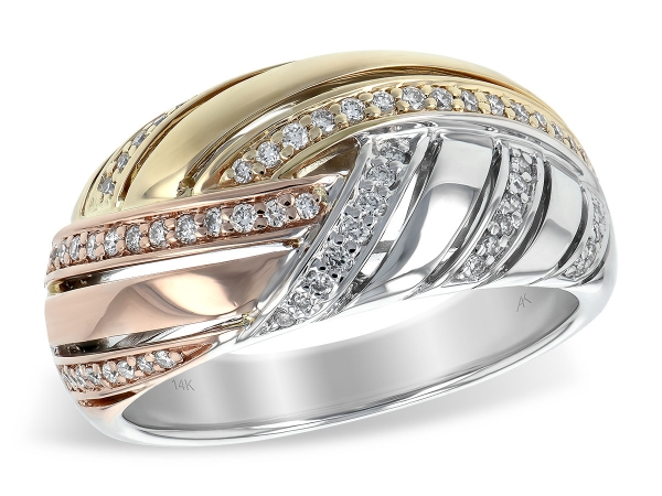 14KT Gold Ladies Diamond Ring - LDS DIA RG .23 TW