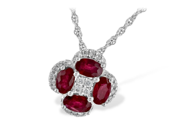 14KT Gold Necklace - NECK 1.09 RUBY 1.22 TGW
