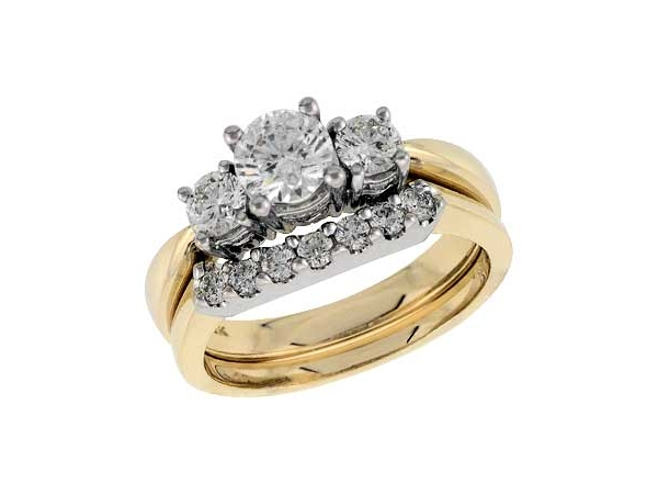 14KT Gold Semi-Mount Engagement Ring - SEMI SET 0.56 TW - HOLDS 0.60 CTR