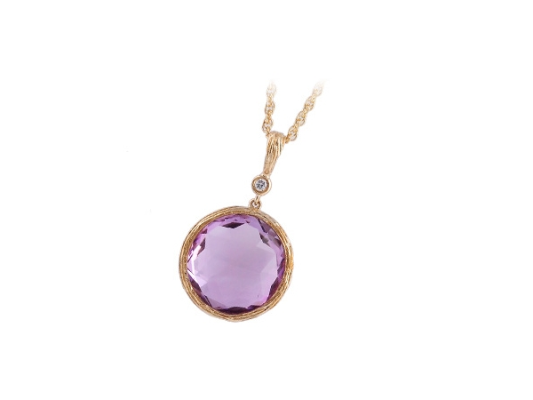 14KT Gold Necklace - NECK 8.59 AMETHYST 8.61 TGW