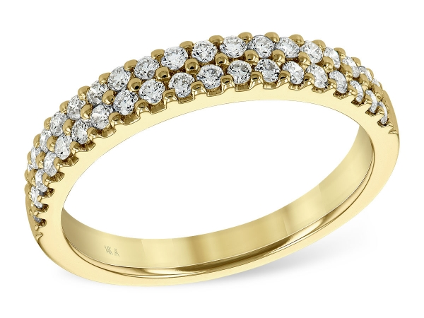 14KT Gold Ladies Wedding Ring - LDS DIA WED RG .50 TW
