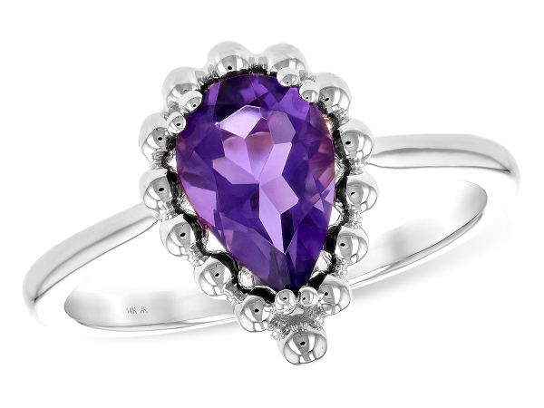 14KT Gold Ladies Diamond Ring - LDS RING 1.06 CT AMETHYST