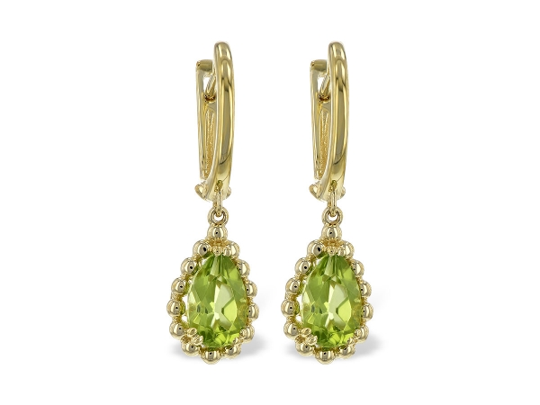 14KT Gold Earrings - EARR 1.65 PERIDOT TW