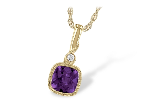 14KT Gold Necklace - NECK .84 AMETHYST .86 TGW