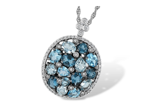 14KT Gold Necklace - NECK 3.12 BLUE TOPAZ 3.41 TGW
