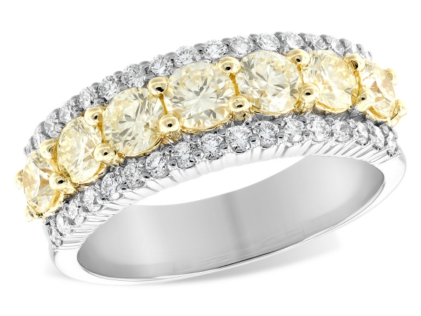 14KT Gold Ladies Wedding Ring - LDS DIA WED RG 1.20 YELLOW DIA 1.64 TW