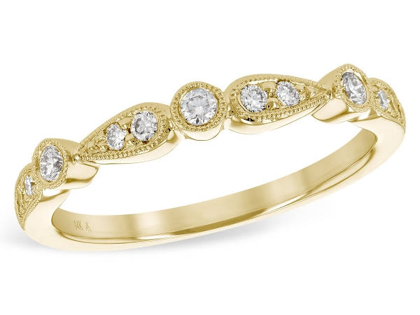 14KT Gold Ladies Wedding Ring - LDS WED RG .22 TW