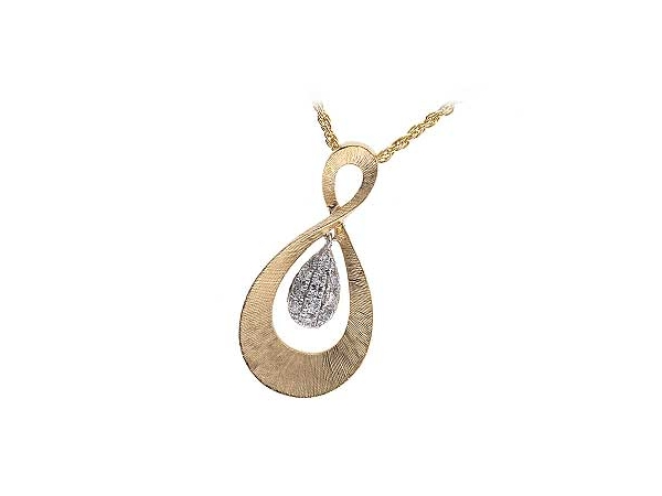 14KT Gold Necklace - NECKLACE .12 TW