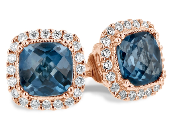 14KT Gold Earrings - EARR 2.14 LONDON BLUE TOPAZ 2.40 TGW