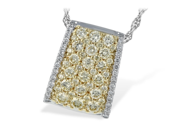 14KT Gold Necklace - NECK .95 YELLOW DIAS 1.09 TW