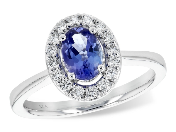 14KT Gold Ladies Diamond Ring - LDS RG .73 TANZANITE .97 TGW