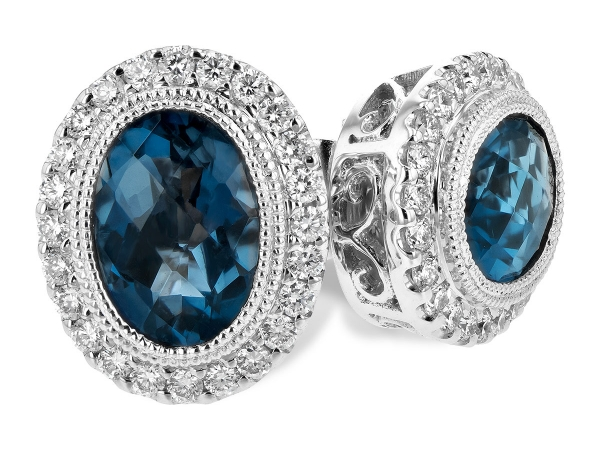 14KT Gold Earrings - EARR 1.76 LONDON BLUE TOPAZ 2.01 TGW