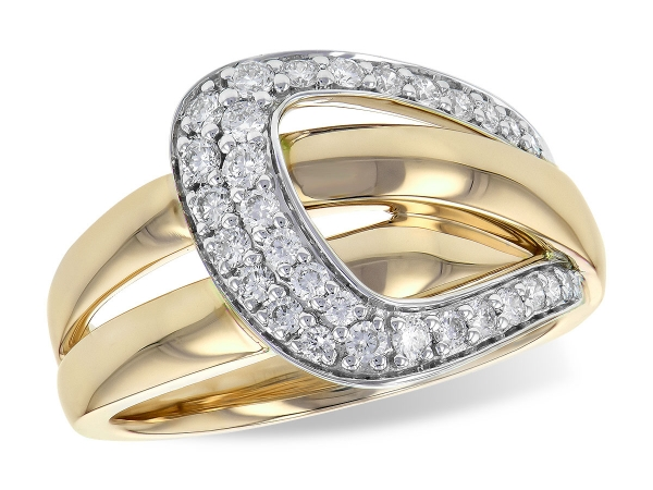 14KT Gold Ladies Diamond Ring - LDS DIA RG .38 TW