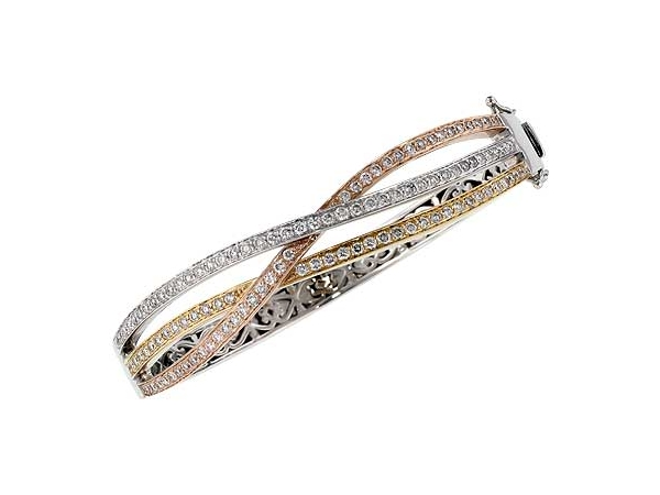 14KT Gold Bracelet - BANGLE BRACELET 2.00 TW