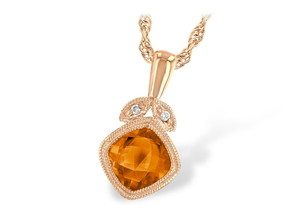 14KT Gold Necklace - NECK .90 CITRINE .91 TGW