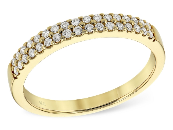 14KT Gold Ladies Wedding Ring - LDS DIA WED RG .25 TW