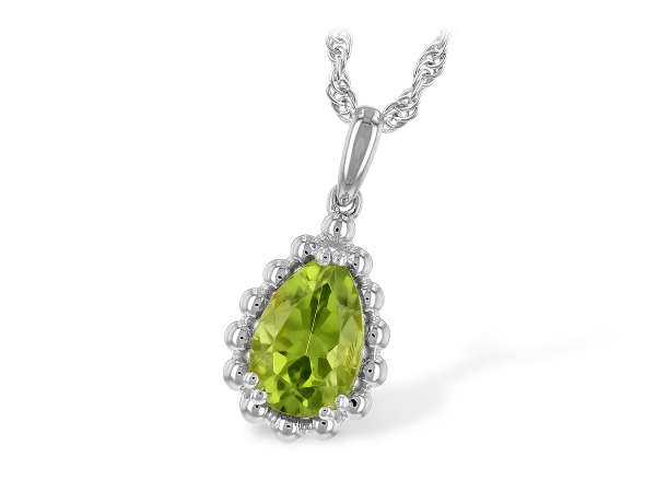 14KT Gold Necklace - NECK 1.30 PERIDOT TW