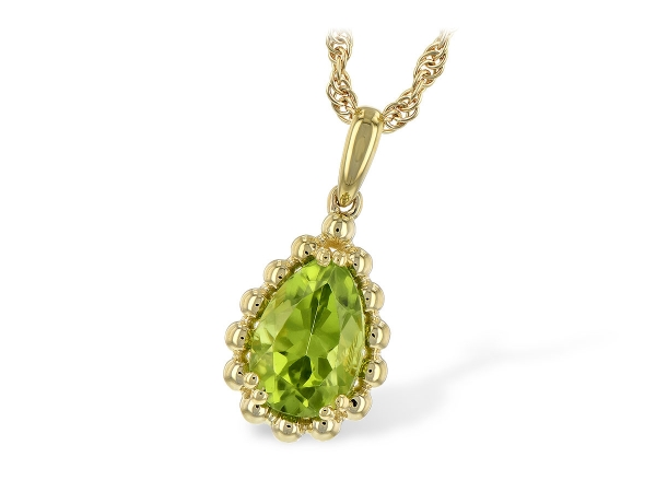14KT Gold Necklace - NECKLACE 1.30 CT PERIDOT
