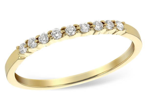 14KT Gold Ladies Wedding Ring - LDS WED RG .12 TW (9 STONES)