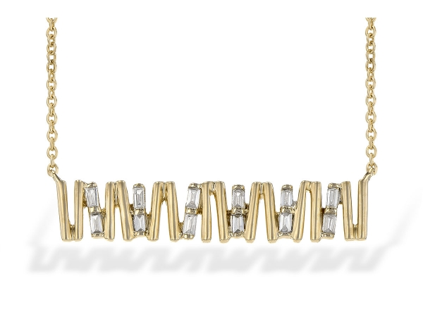 14KT Gold Necklace - NECK .15 TW BAGUETTE DIAS