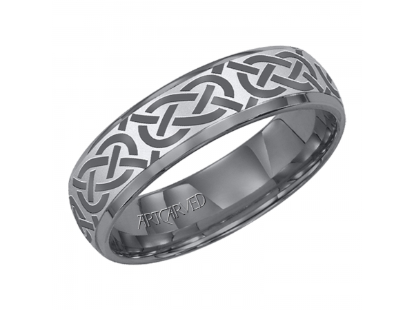Tungston Carbide Wedding Rings.Gray Tungsten Carbide Wedding Band