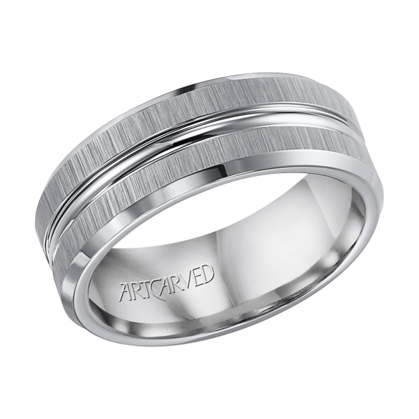 Gray Tungsten Carbide Wedding Band 11 Wv2523c Wedding Bands From