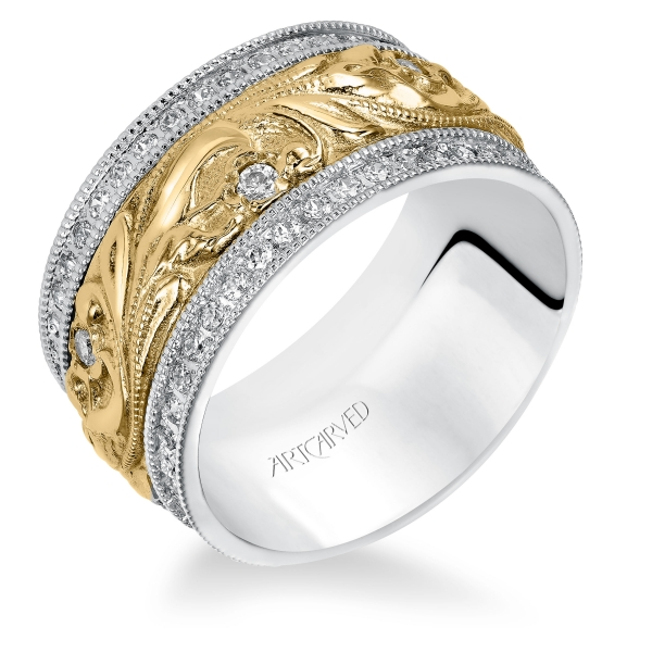 Anniversary Bands - 18k White & Yellow Gold  Anniversary Band