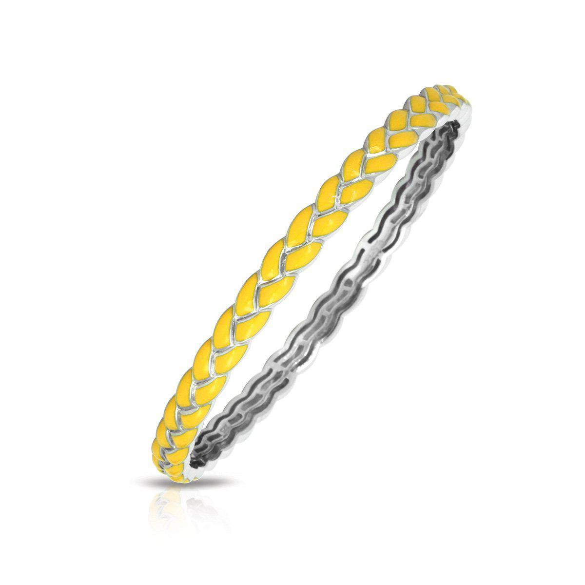 Braid Solid Bangle by Belle Etoile