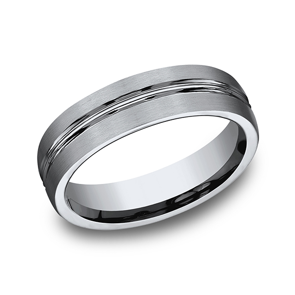 Wedding Bands - Titanium Comfort-Fit Design Wedding Band
