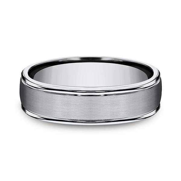 Wedding Bands - Titanium Comfort-Fit Design Ring - image 2