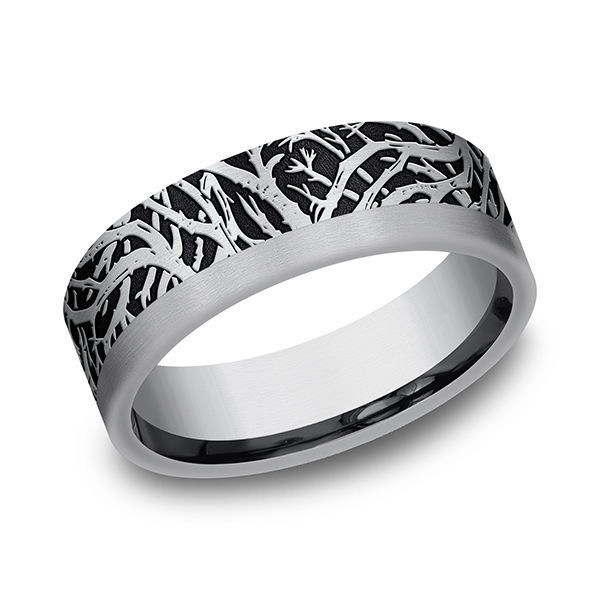 Wedding Bands - Ammara Stone Comfort-fit Design Ring