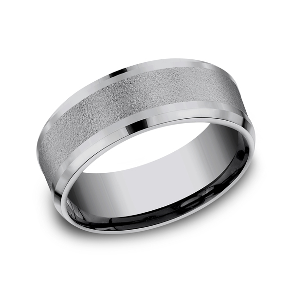 Grey Tantalum Comfort-Fit wedding band by Tantalum