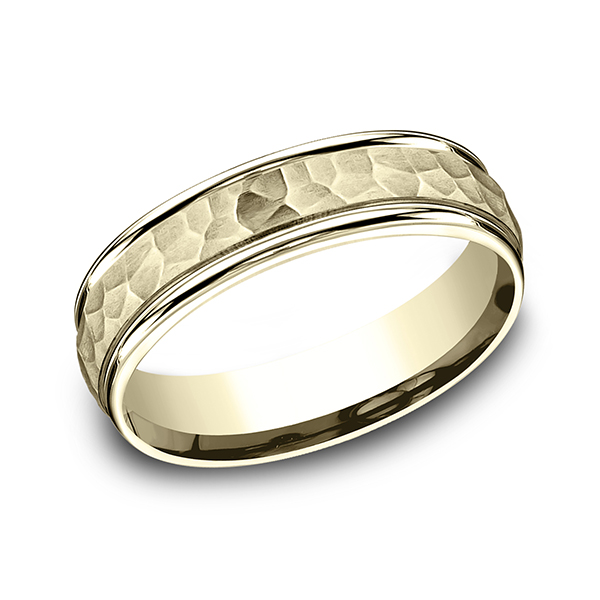Men's Wedding Bands - Comfort-Fit Design Ring - image #3