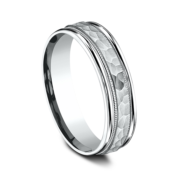 Men's Wedding Bands - Comfort-Fit Design Ring - image 2