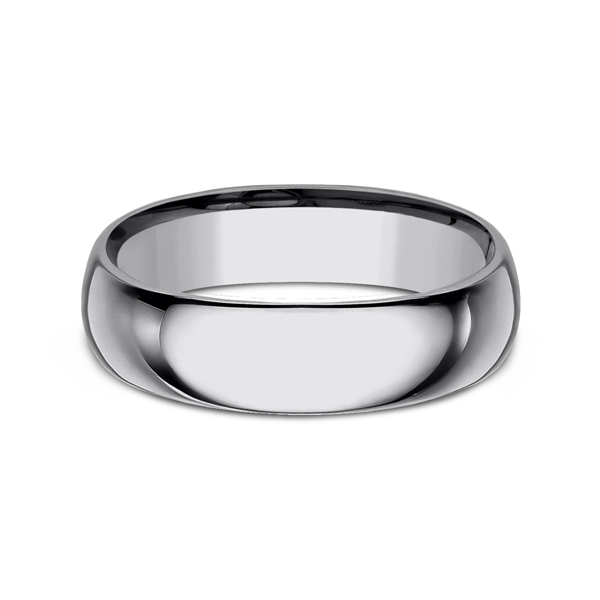 Men's Wedding Bands - Tungsten Comfort-Fit Design Wedding Band - image #3