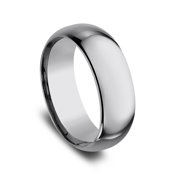 Men's Alternative Metal Wedding Bands - Tungsten Comfort-Fit Design Wedding Band - image #2
