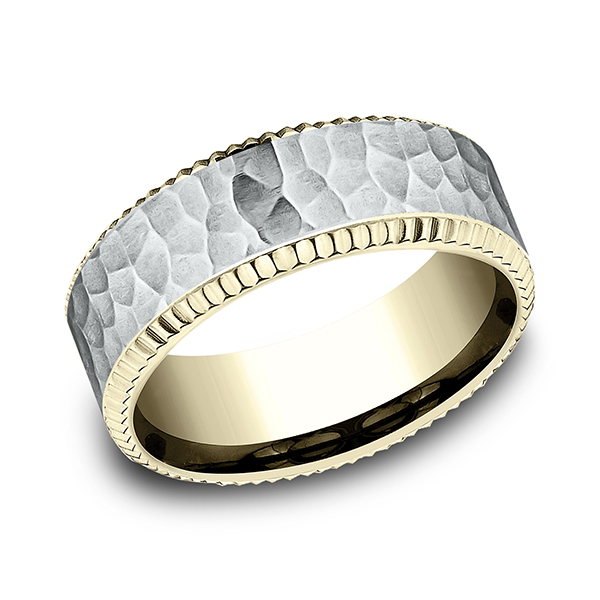 Two Tone Comfort-Fit Design Wedding Ring Holly McHone Jewelers Astoria, OR