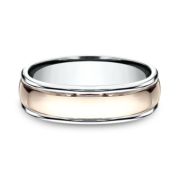 Two Tone Comfort-Fit Design Ring by Benchmark
