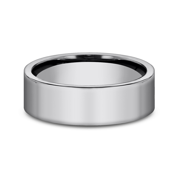Men's Alternative Metal Wedding Bands - Tungsten Comfort-Fit Design Wedding Band - image #3