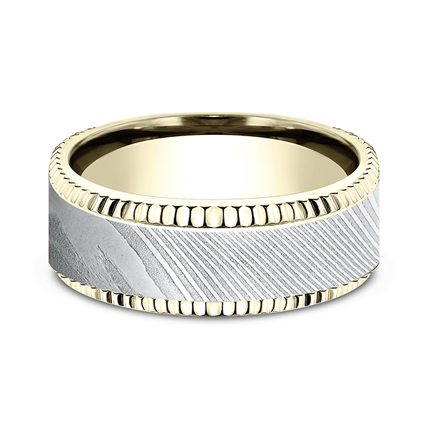 Wedding Bands - Ammara Stone Comfort-fit Design Wedding Ring - image #3