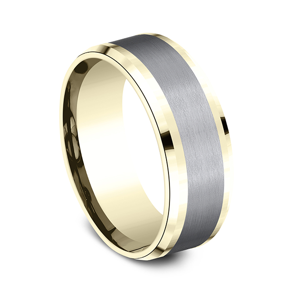 Wedding Bands - Ammara Stone Comfort-fit Design Ring - image #2