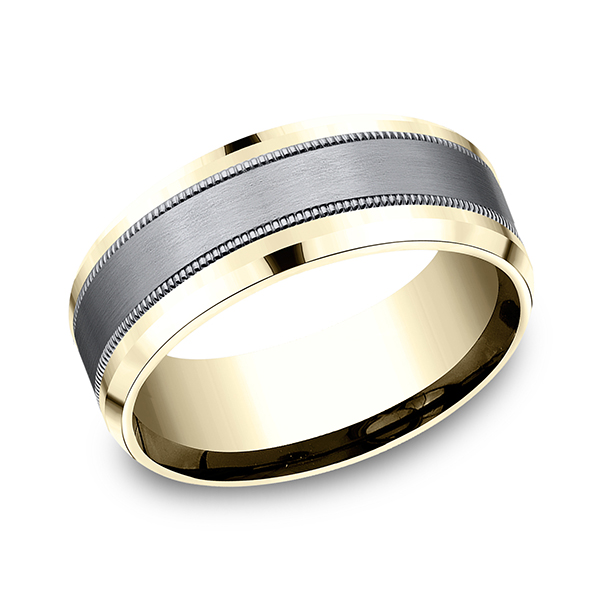 Rings - Ammara Stone Comfort-fit Design Wedding Band