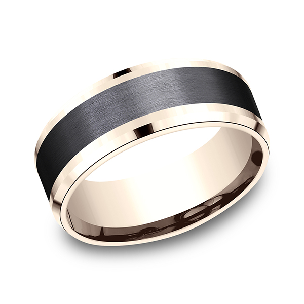 Gold - Ammara Stone Comfort-fit Design Wedding Band