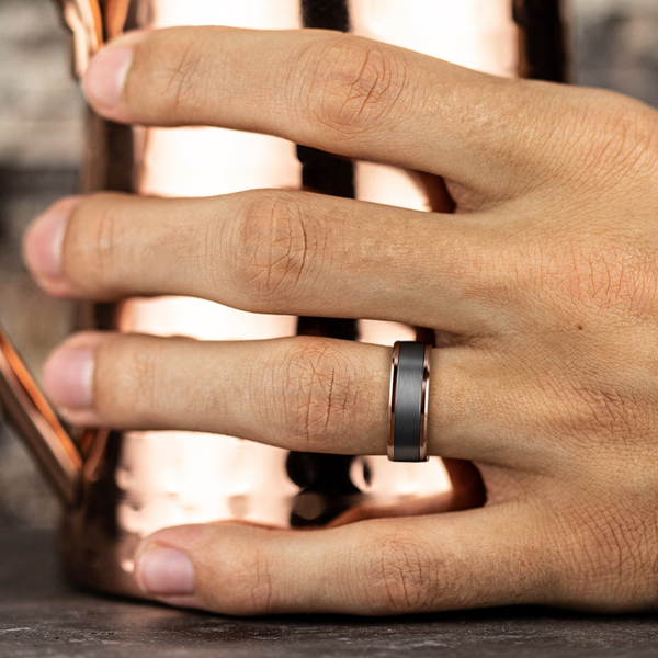 Wedding Bands - Ammara Stone Comfort-fit Design Ring - image #5