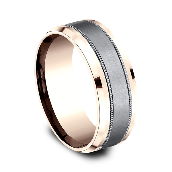 Rings - Ammara Stone Comfort-fit Design Wedding Band - image #2