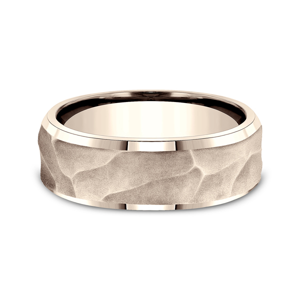 Wedding Bands - Ammara Stone Comfort-fit Design Ring - image 3