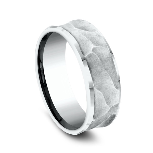 Men's Wedding Bands - Ammara Stone Comfort-fit Design Ring - image 2