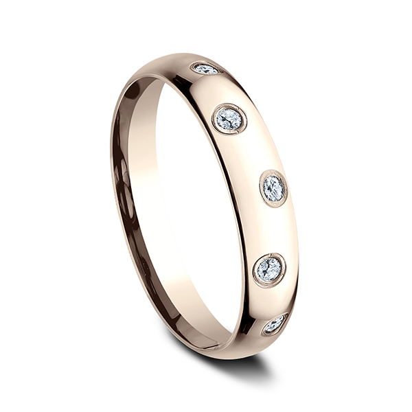 Wedding Bands - Comfort-Fit Diamond Ring - image #2