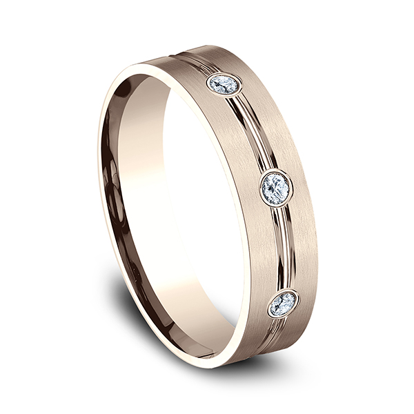 Wedding Bands - Comfort-Fit Diamond Wedding Ring - image 2