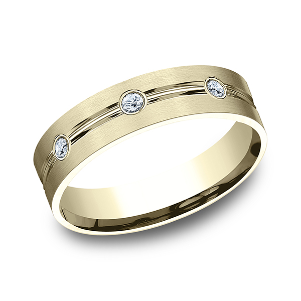 Wedding Bands - Comfort-Fit Diamond Ring - image #3